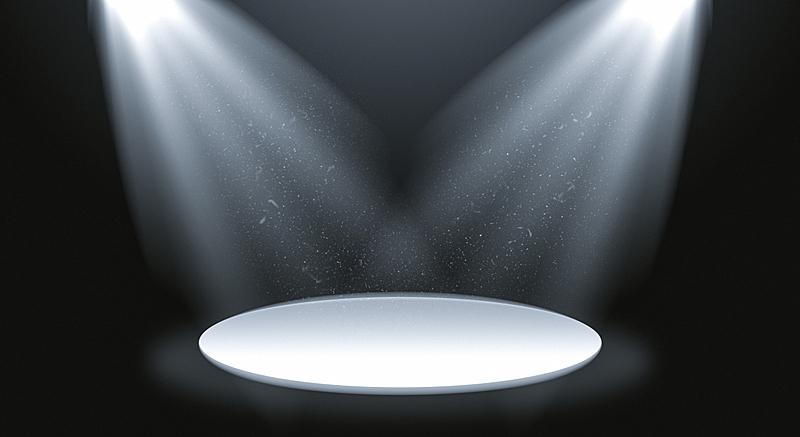 舞台,聚光灯,LED灯,名声,热,暗色,光亮,现代,灯光技术,出示