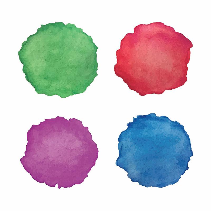 圆形,抽象,水彩画,绘画插图,美,艺术,纹理效果,墨水,长方形,画笔