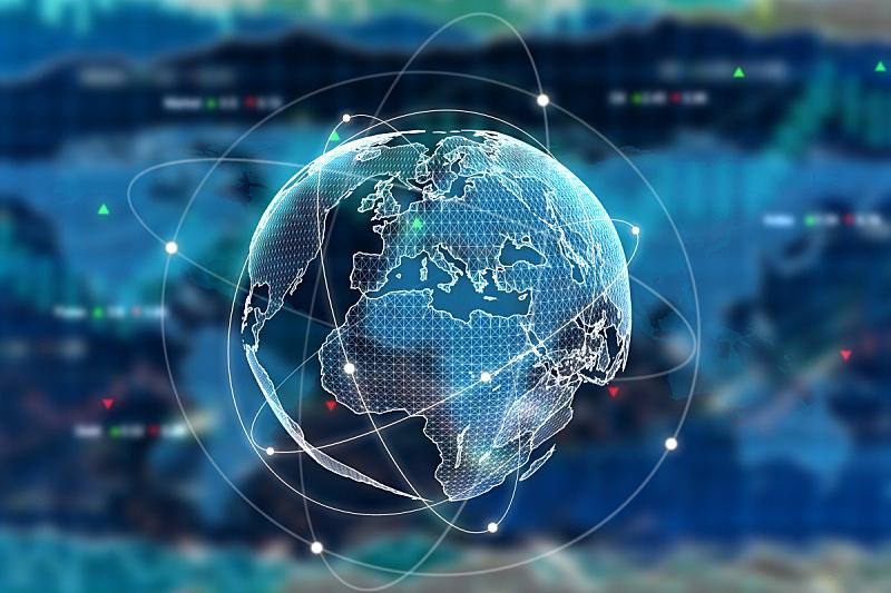 商务,全球通讯,全球商务,经济,市场,股市和交易所,地球,计算机制图,行星,金融