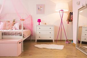 卧室,儿童,粉色,灯,美,新的,灵感,水平画幅,墙,器材箱