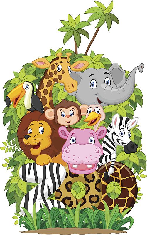 动物,卡通,幸福,动物园,组装套件,热带音乐,长颈鹿,猴子,可爱的,字母