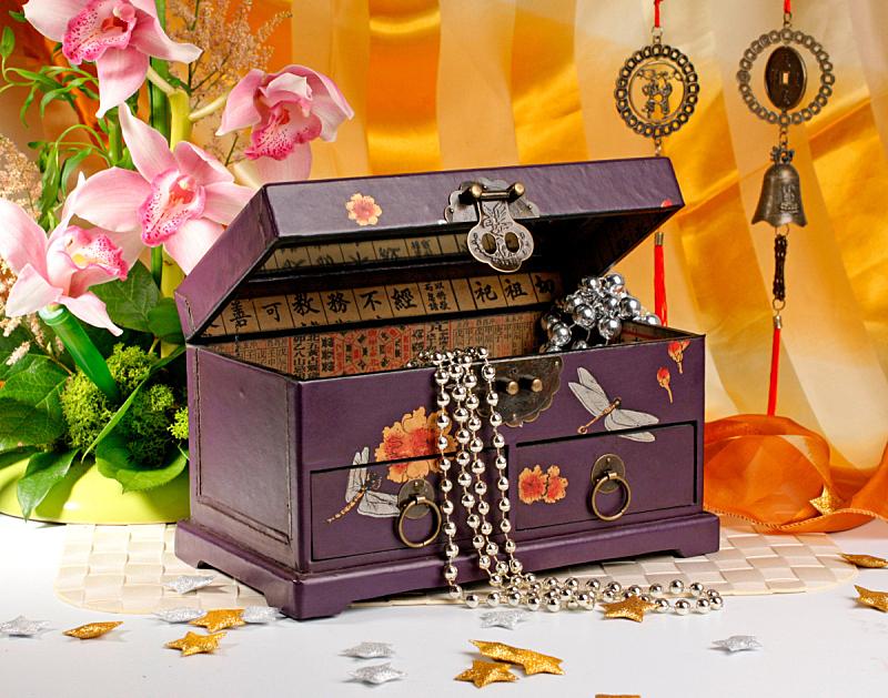 珠宝,棺材,兰花,水平画幅,绿色,无人,手铃,象形文字,花束,彩色图片