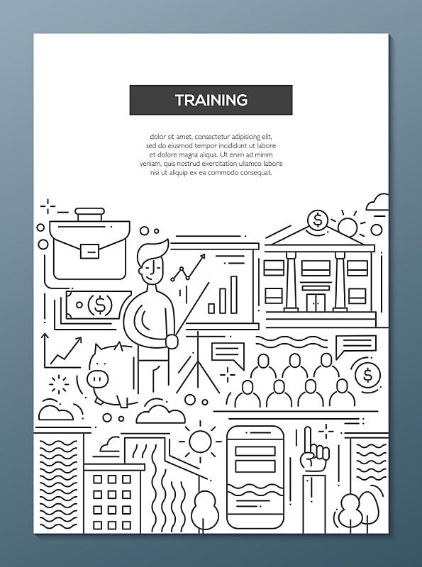 模板,商务,小册子,线条,计划书,麦克唐纳·道格拉斯f-4,绘画插图,异国情调,新创企业