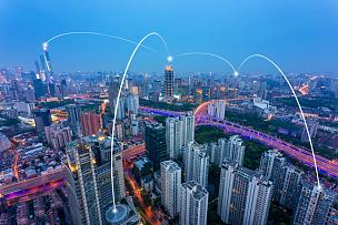 技术,计算机网络,上海,上海环球金融中心,计算机制图,霓虹色,天空,留白,未来,高视角