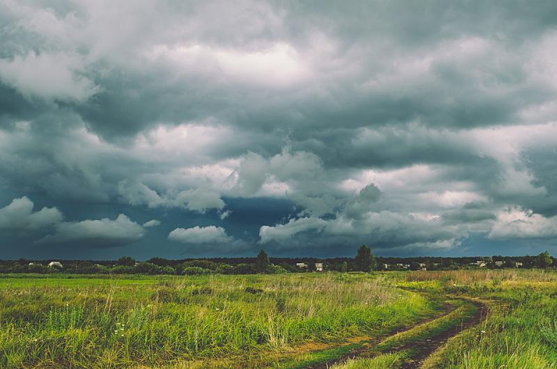 乌云,田地,在上面,龙卷风,极端天气,气象学,雷雨,天空,风,暴风雨