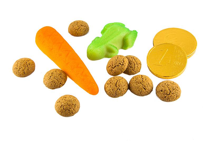 白色,糖果,杏仁糖衣,胡椒坚果,褐色,胡萝卜,水平画幅,圣诞节,无人,圣诞老人