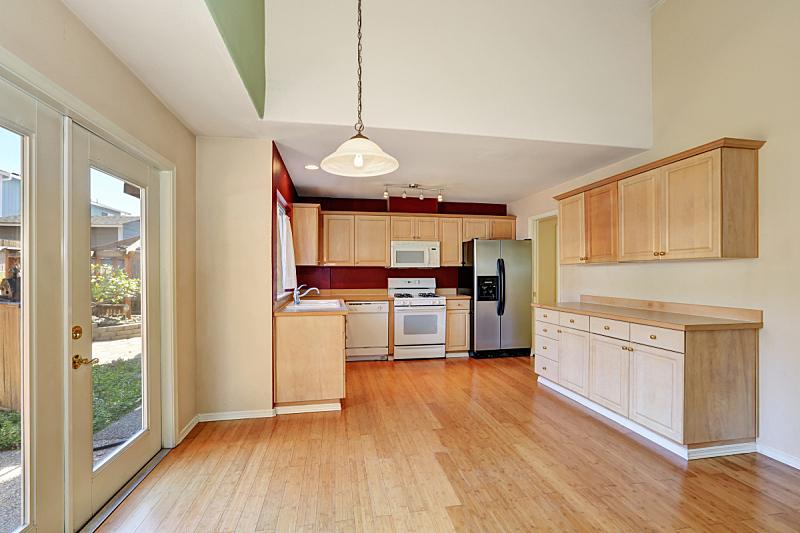 住宅房间,室内,厨房,清新,窗户,水平画幅,建筑,无人,豪宅,天花板