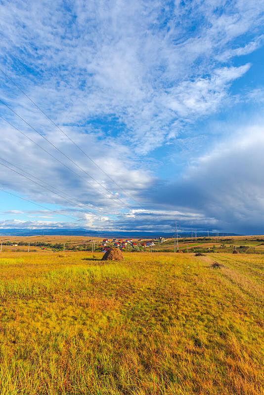 乌云,非凡的,秋天,垂直画幅,罗马尼亚,风景,环境,云,图像,无人