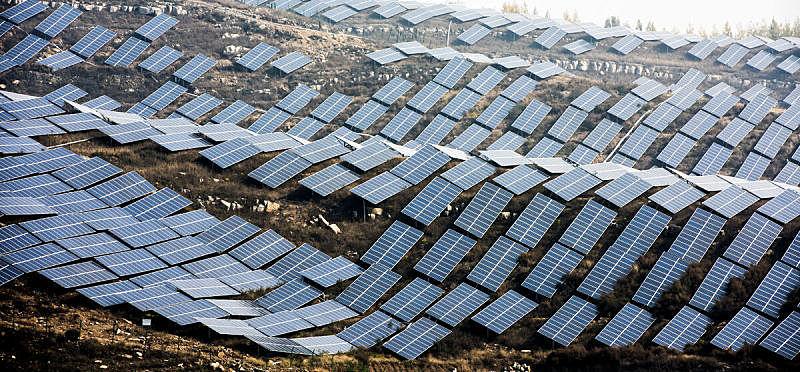 替代能源,工业机械,风力,小家电,太阳能,太阳能电池板,商业金融和工业,全景,电,中国