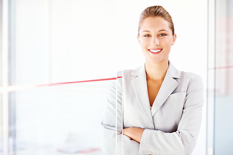 套装,女商人,办公室,美,留白,半身像,水平画幅,注视镜头,美人