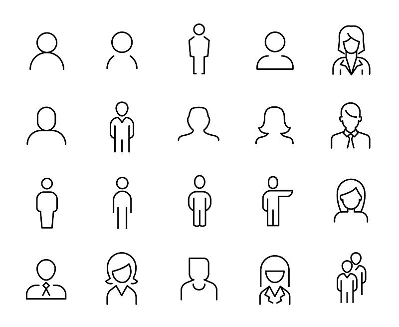 成一排,计算机图标,人,溢价,领导能力,绘画插图,男商人,经理,男性,程序员
