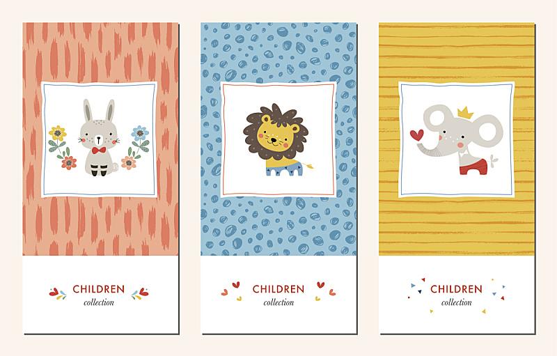 可爱的,图案t恤,象,狮子,生日礼物,婴儿,柔和色,兔子,四方连续纹样,传单