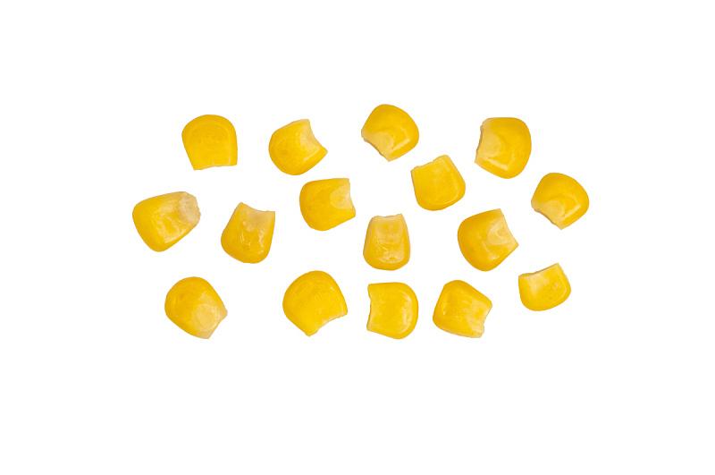 玉米,罐头,分离着色,中等数量物体,仁,水平画幅,素食,无人,膳食,组物体