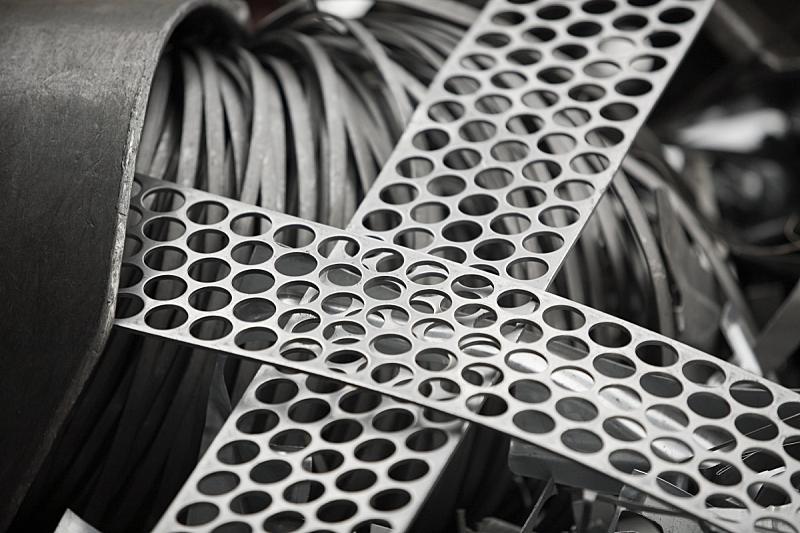 废纸篓,垃圾,仓库,水平画幅,无人,循环利用,金属,摄影