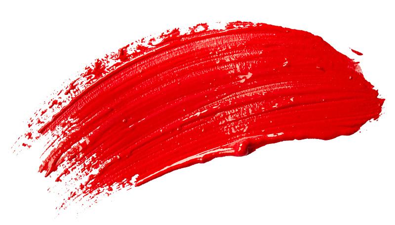 涂料,红色,笔触,艺术,水平画幅,形状,无人,抽象,白色背景,背景分离