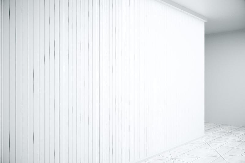 白色,百叶帘,特写,都市风光,办公室,留白,水平画幅,墙,无人,天花板