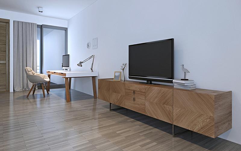 家具,白色,住宅房间,木制,床,褐色,桌子,水平画幅,无人,衣柜