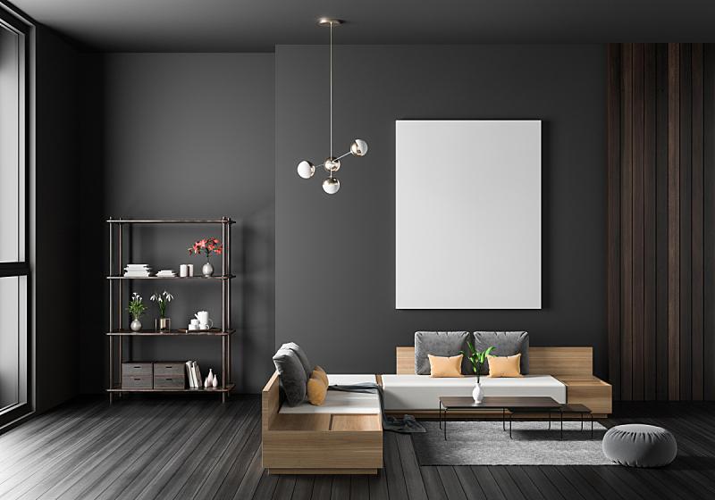 边框,现代,绘画插图,潮人,极简构图,室内设计师,三维图形,轻蔑的,正下方视角