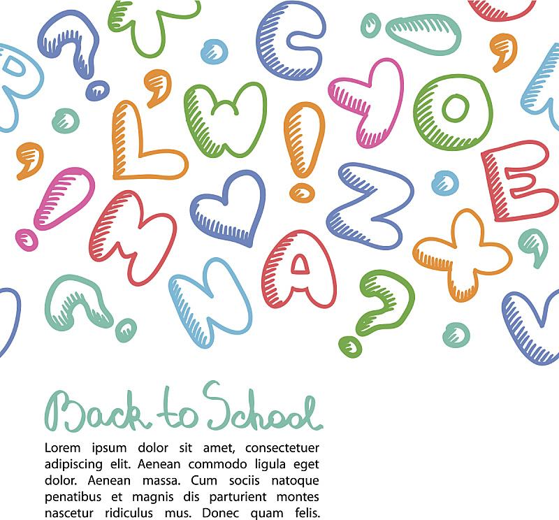 字母,背景,绘画插图,艺术,符号,卡通,箭头符号,学校,白色,设计
