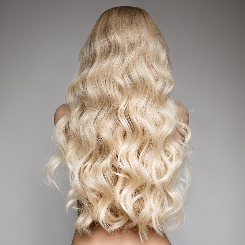 长发,青年人,金色头发,女人,背面视角,自然美,波浪发,彩妆,化妆用品,完美
