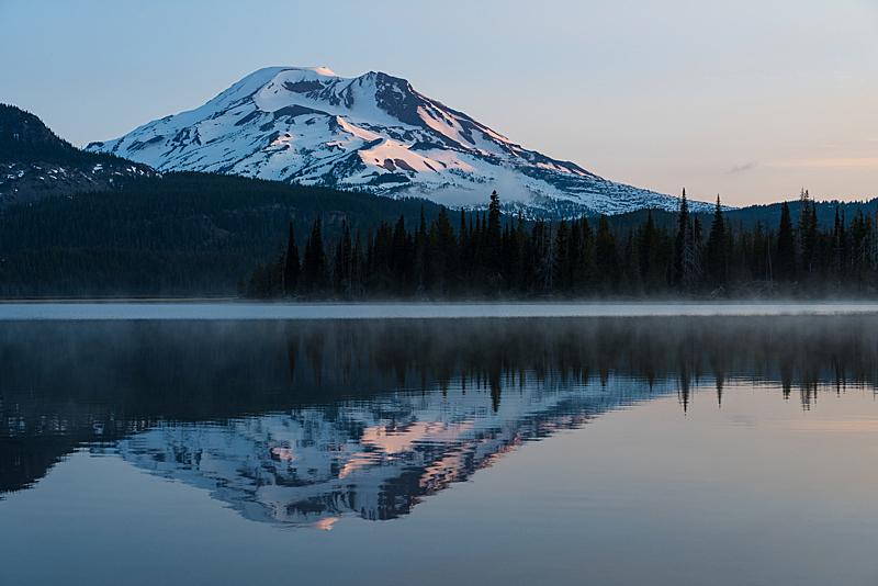 湖,山,风景,宁静,自然,天空,留白,南姐妹峰,美国,水平画幅