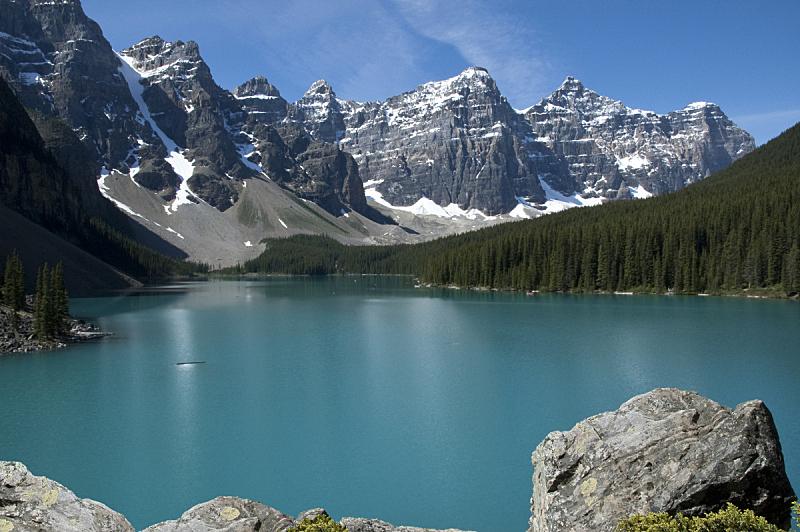 梦莲湖,十峰谷,加拿大落基山脉,天空,洛矶山脉,水平画幅,雪,阿尔伯塔省,无人,户外