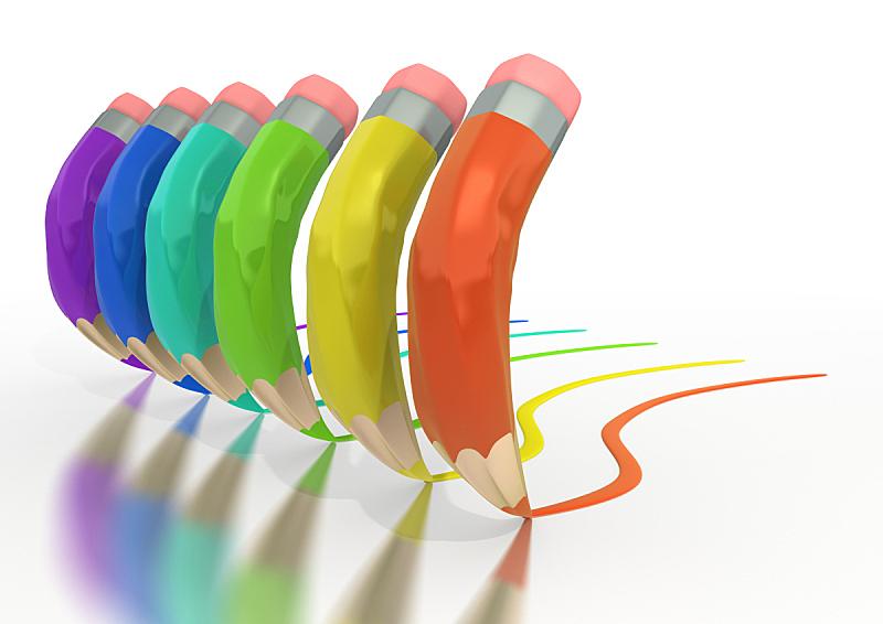 铅笔,线条,艺术,铅笔画,水平画幅,形状,无人,彩色图片,剪贴路径,设备用品