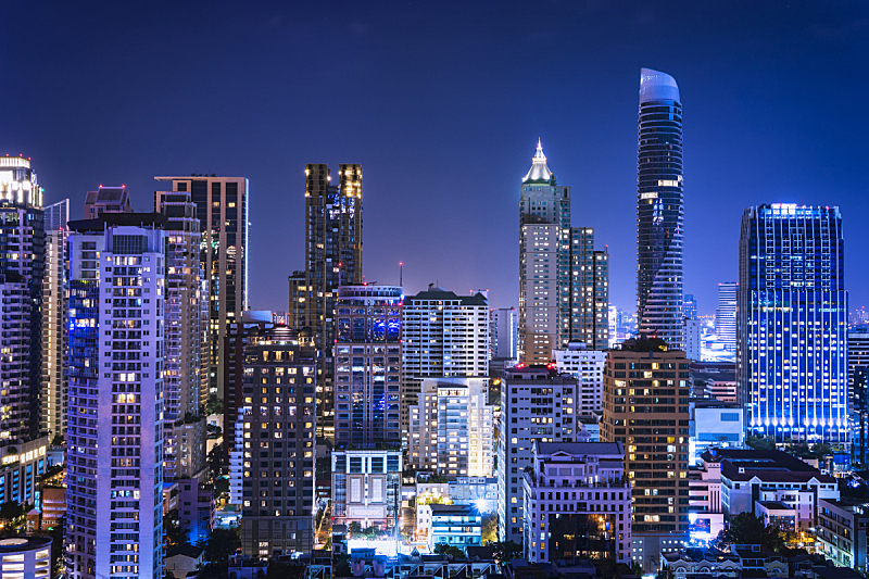 夜晚,都市风景,蓝色,照明设备,抽象,显示器,商品,茶水间,阶调图片,蒙太奇