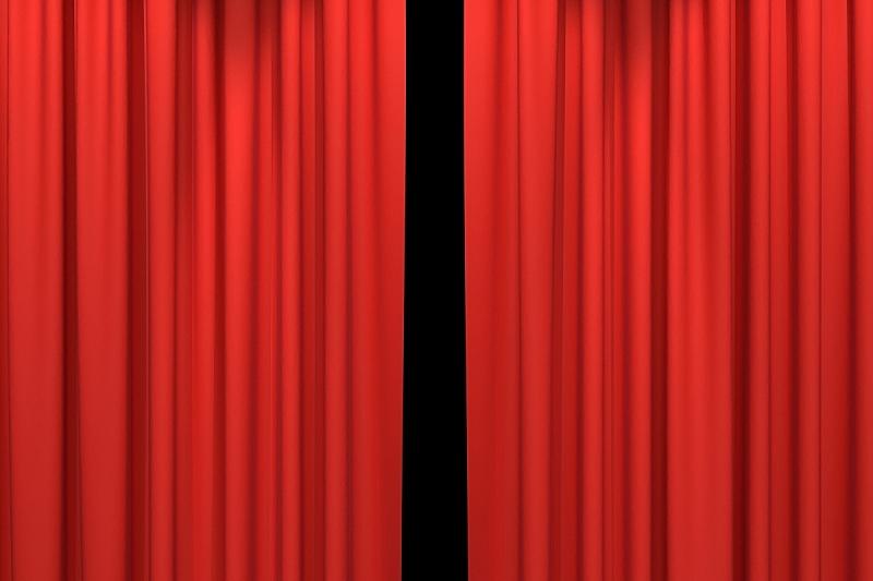 窗帘,舞台,红色,正面视角,纺织品,绘画插图,天鹅绒,光,模板,工业
