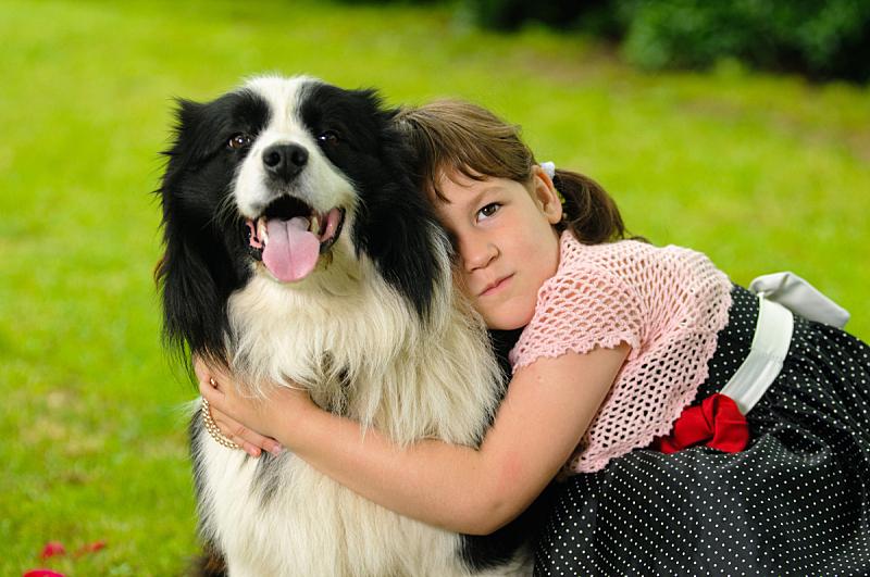 狗,女孩,派克大街,美,公园,休闲活动,水平画幅,美人,夏天,户外