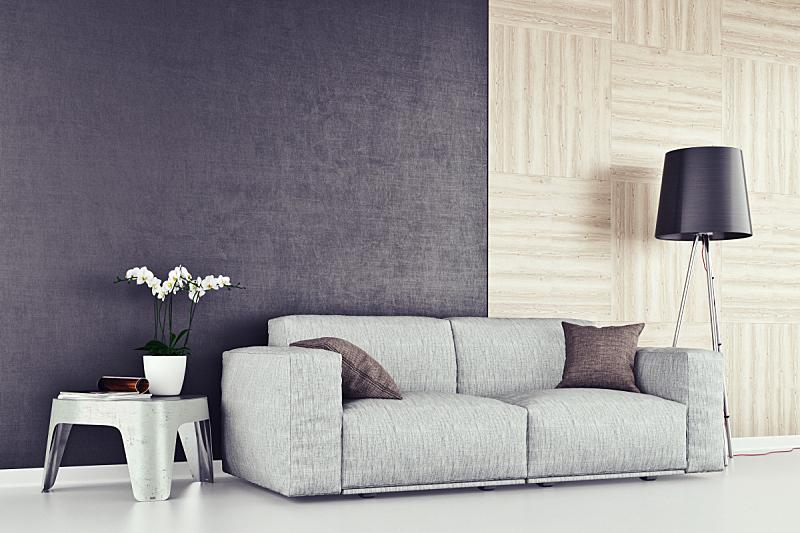 起居室,现代,沙发,等候室,复式楼,留白,酒店,水平画幅,墙,无人