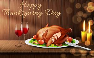 矢量,背景,幸福,白昼,十一月,传单,家庭,火鸡肉,盘子,请柬