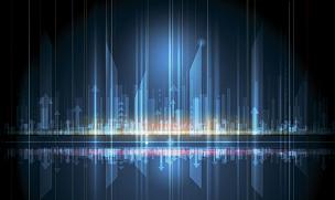 未来,科学,都市风景,技术,矢量,抽象,概念,能源,水平画幅,形状