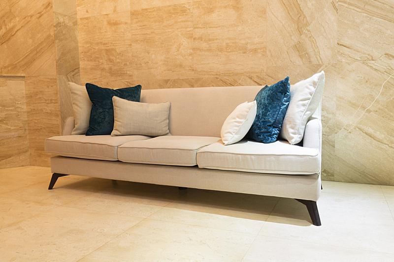 沙发,大厅,建筑外部,水平画幅,无人,舒服,软垫,弹球,建筑结构,现代