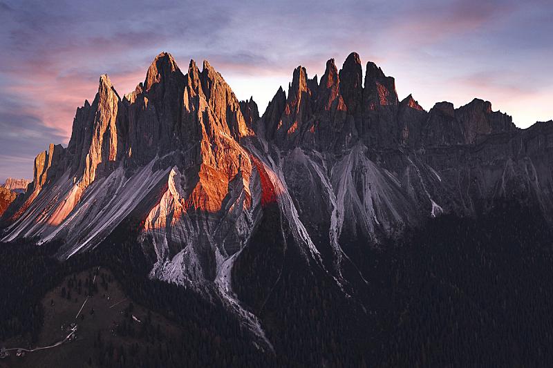 山脉,意大利,桨叉架船,动物群,天空,水平画幅,云,雪,户外,无人机