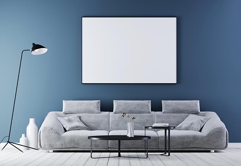 边框,室内,沙发,现代,皮革,起居室,轻蔑的,正下方视角,复古