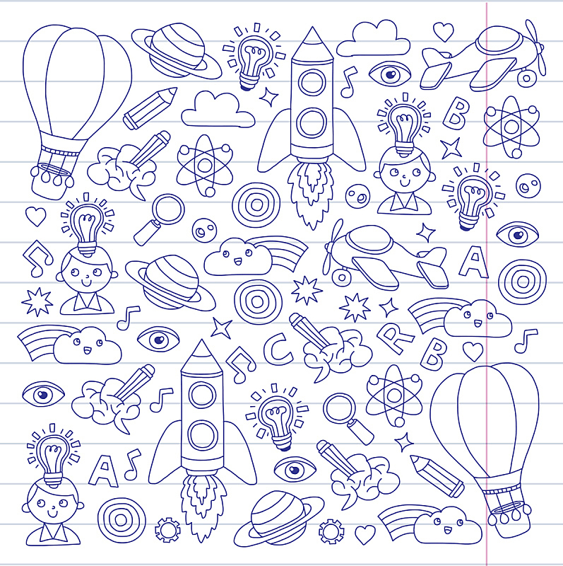 未成年学生,知识,创造力,儿童画,时尚,幻想,概念,垂直画幅,青少年,未来