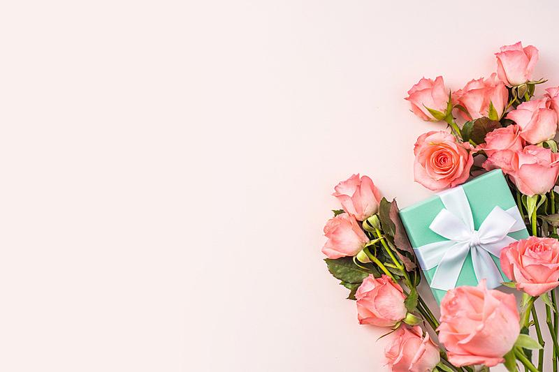 情人节,粉色,玫瑰,母亲,视角,事件,贺卡,彩色背景,浪漫,边框
