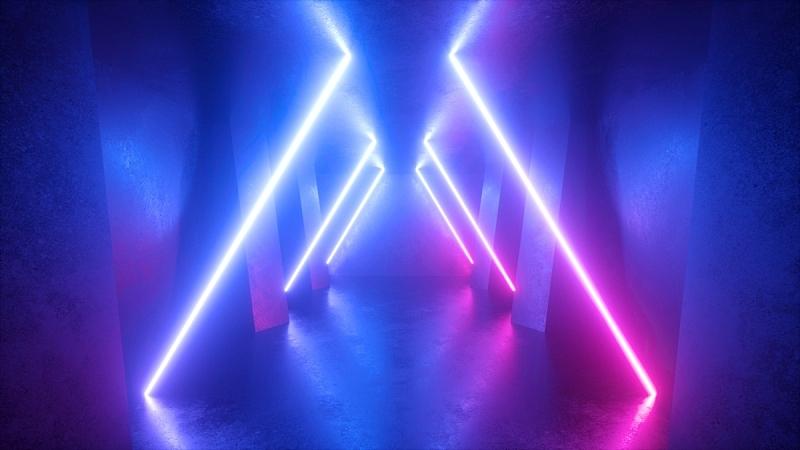 空的,紫外线,隧道,走廊,背景,霓虹灯,抽象,条纹,住宅房间,发光
