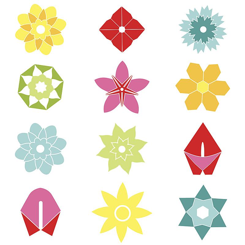 符号,计算机图标,平坦的,自然,复活节,式样,绘画插图,抽象,人,夏天