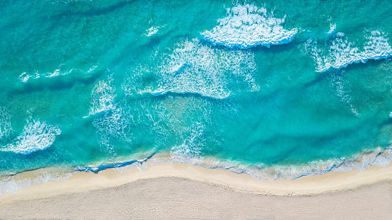 无人机,海洋,海滩,航拍视角,留白,青绿色,顶部,自然美,风景,热带气候