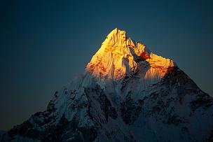 地形,山脉,喜马拉雅山脉,自然美,天空,稀缺,透过窗户往外看,夜晚,异国情调,顶部