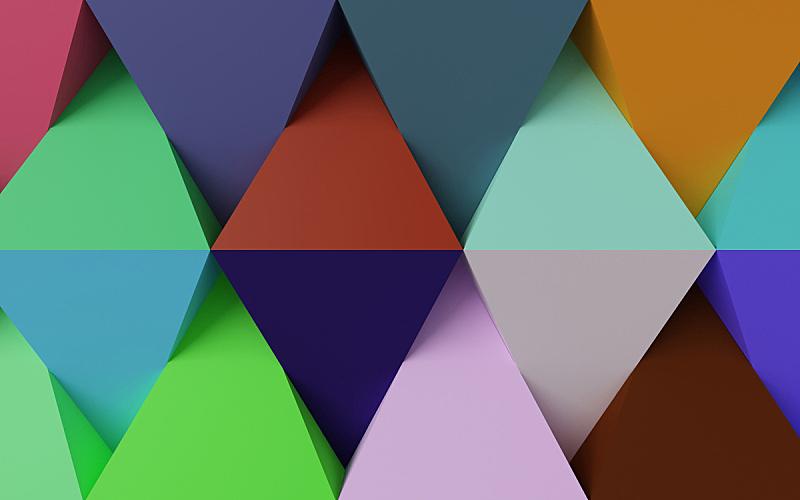 几何形状,抽象,背景,多色的,未来,水平画幅,形状,绘画插图,计算机制图,计算机图形学