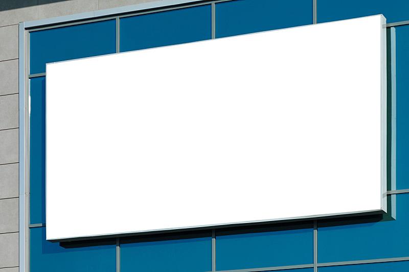 水平画幅,布告栏,空白的,蓝色,天空,留白,边框,消息,巨大的,户外