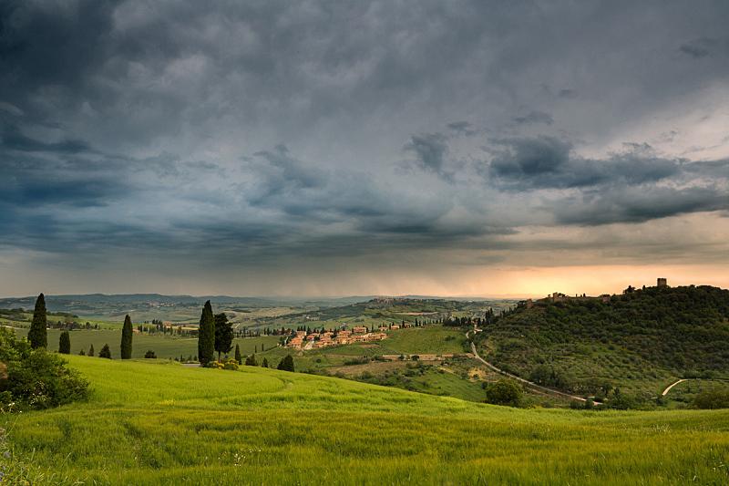 蒙特克罗,雨,在上面,蒙塔西诺,蒙达普西安诺,水平画幅,山,无人,古老的,户外