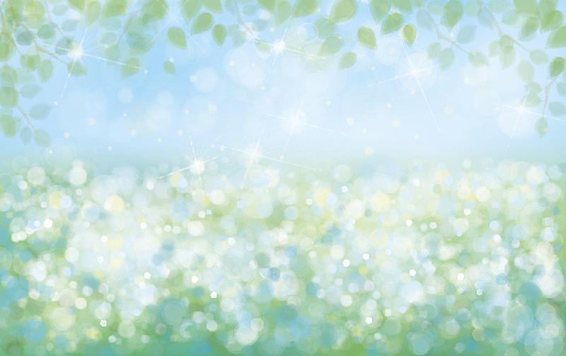 春天,矢量,自然,背景,彩色背景,绿色背景,天空,边框,水平画幅,无人