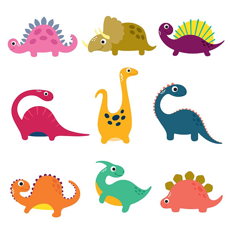 幽默,恐龙,卡通,可爱的,自然,黄色,幻想,图像,已灭绝生物,美