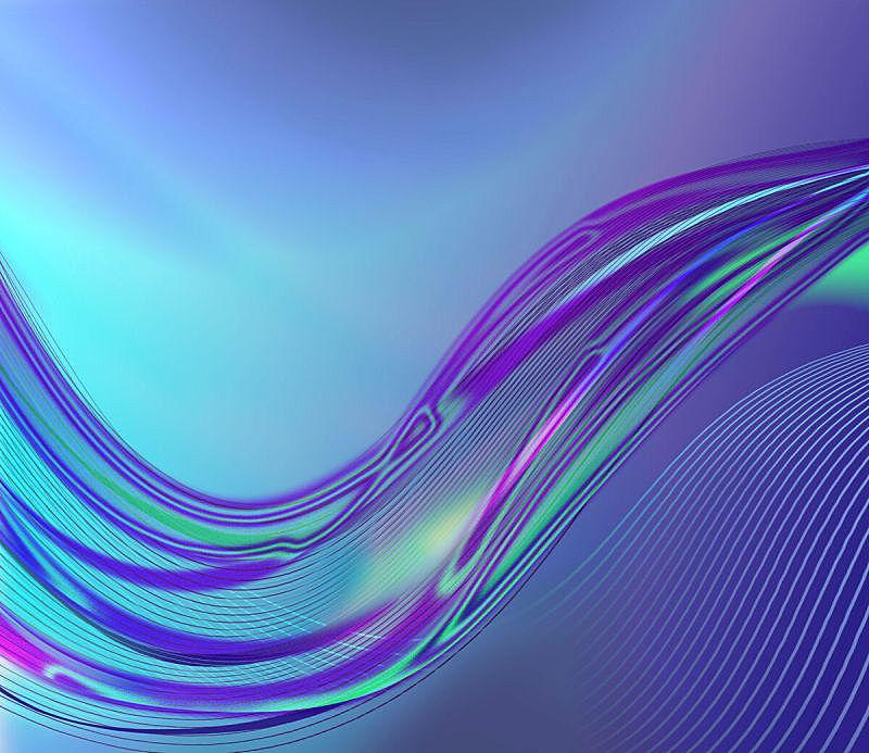 抽象,蓝色背景,美,未来,艺术,水平画幅,形状,无人,绘画插图,计算机制图