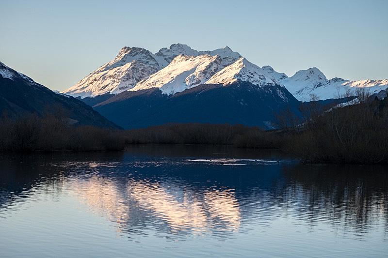 自然,水平画幅,新西兰,山,格林诺奇,奥塔哥地区,雪山,地形,户外,冬天