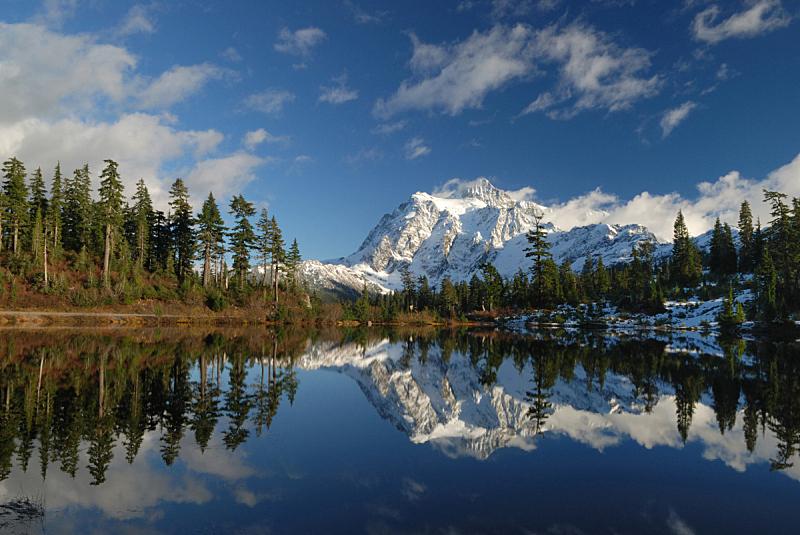 舒克森山,背景,接力赛,取景湖,天空,水平画幅,雪,无人,户外,湖